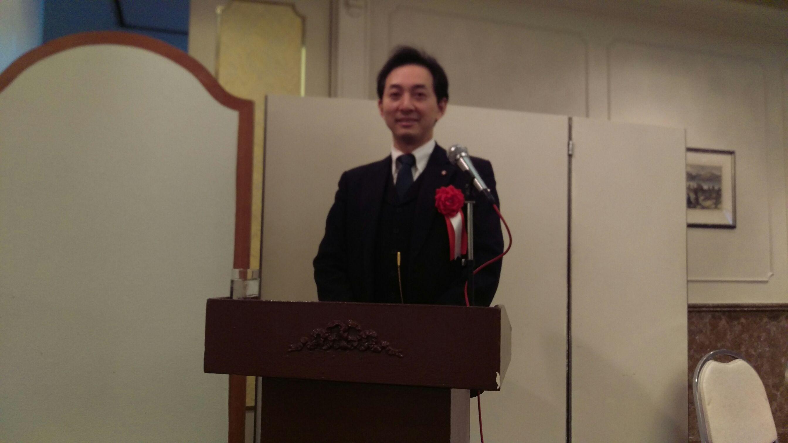 議長就任・活動報告会で司会を務めました